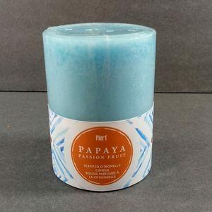 Pier 1 Blue Papaya Passion Fruit Pillar Candle